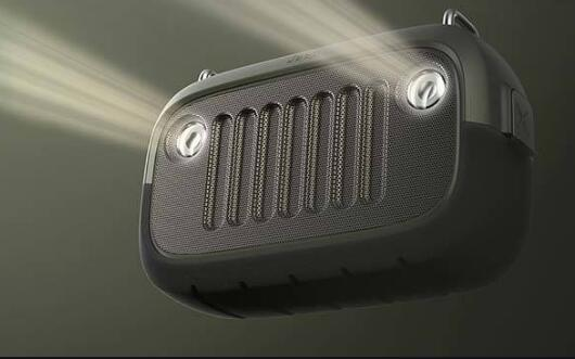 Jeep-inspired bluetooth speaker