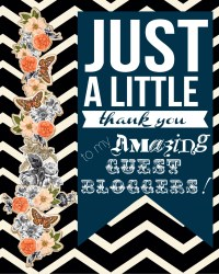 Thank You Guest Bloggers