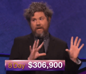 Austin Rogers, winner of the October 5, 2017 Jeopardy! episode.