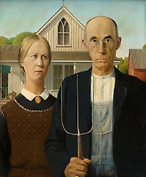 """American Gothic"", the most famous painting of Grant Wood, subject of Final Jeopardy! on October 2, 2017."
