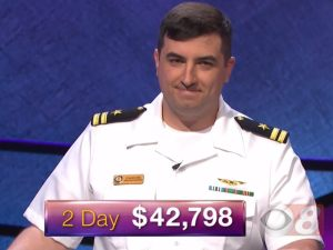 Manny Abell, tonight's Jeopardy! winner (for the October 16, 2017 episode.)