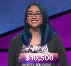 Kiana Nakamura, today's Jeopardy! champion (for the November 21, 2017 episode.)