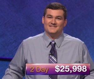 Matt Preston, today's Jeopardy! champion (for the November 29, 2017 episode.)