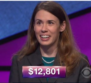 Monica Ashar, tonight's Jeopardy! winner (for the November 2, 2017 episode.)