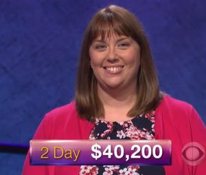 Kate O'Connor, today's Jeopardy! winner (for the December 19, 2017 episode.)