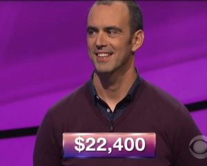 Lee Quinn, today's Jeopardy! winner (for the January 17, 2018 episode.)