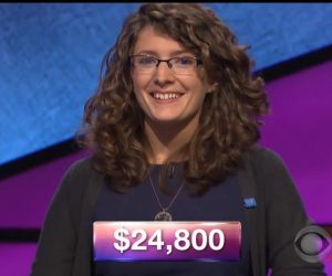 Rachel Lindgren, today's Jeopardy! winner (for the January 19, 2018 episode.)