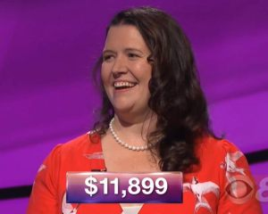 Jenny Rhodes, today's Jeopardy! winner (for the February 2, 2018 episode.)