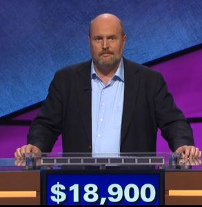 Marty Cunningham, today's Jeopardy! winner (for the February 8, 2018 episode.)