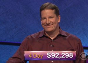 Rob Worman, today's Jeopardy! winner (for the February 19, 2018 episode.)