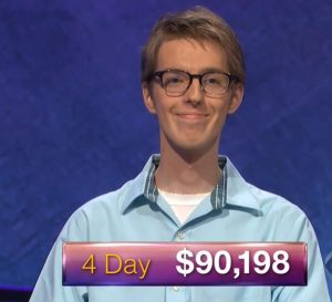 Ryan Fenster, today's Jeopardy! winner (for the February 1, 2018 episode.)