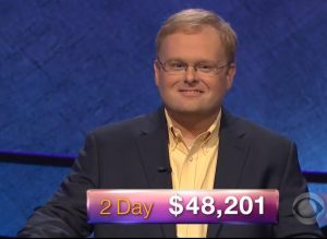 Zach Dark, today's Jeopardy! winner (for the March 13, 2018 episode.)
