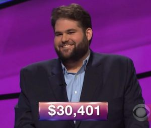 Jack Dickey, today's Jeopardy! winner (for the April 3, 2018 game.)