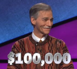 Larry Martin, winner of the 2018 Jeopardy! Teachers Tournament (and the May 18, 2018 game.)