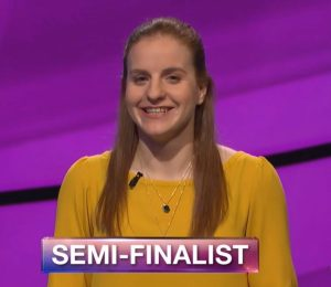 Rachel Niegelberg, today's Jeopardy! winner (for the May 8, 2018 episode.)