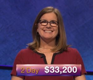 Deirdre Thomas, today's Jeopardy! winner (for the June 18, 2018 game.)