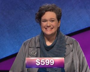 Leslie Manion, today's Jeopardy! winner (for the June 4, 2018 episode.)