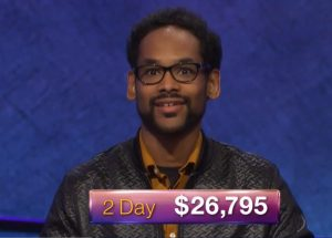 Wes Hazard, today's Jeopardy! winner (for the July 10, 2018 episode.)