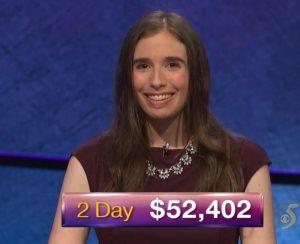 Evelyn Rubin, today's Jeopardy! winner (for the September 27, 2018 episode.)