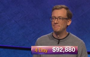 Alex Schmidt, today's Jeopardy! winner (for the October 11, 2018 episode.)