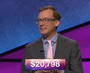 Alex Schmidt, today's Jeopardy! winner (for the October 8, 2018 episode.)