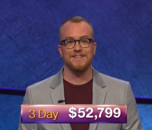 Doug Dodson, today's Jeopardy! winner (for the October 3, 2018 game.)