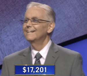 Brian Adams, jeopardy d'aujourd'hui!  gagnant (pour le match du 23 octobre 2020.)