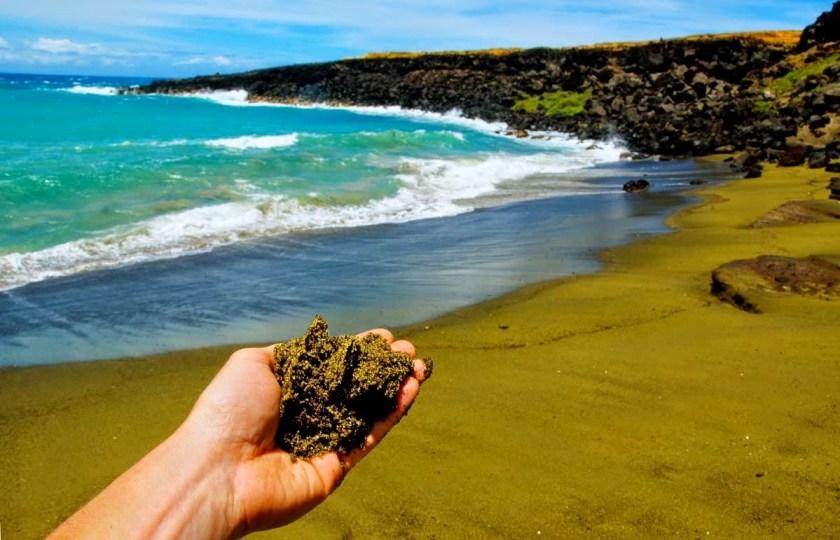 8 Best Big Island (Hawaii) Activities - http://thejerny.com - Green sand beach (Papakōlea)