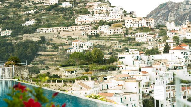 view from Belmond Hotel Caruso on the Amalfi Coast