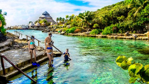 Family-friendly adventures at Xcaret Park.