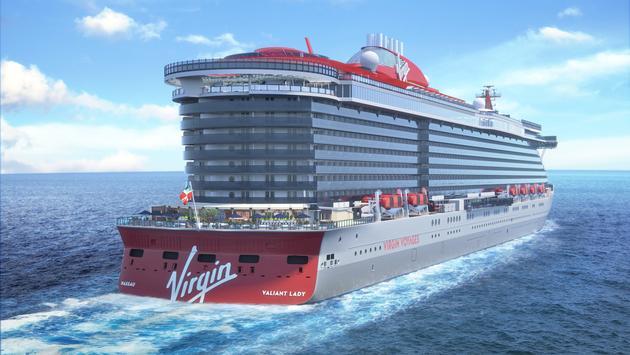 Rendering of Virgin Voyages' Valiant Lady