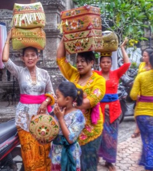 Local Balinese People Ceremony Time
