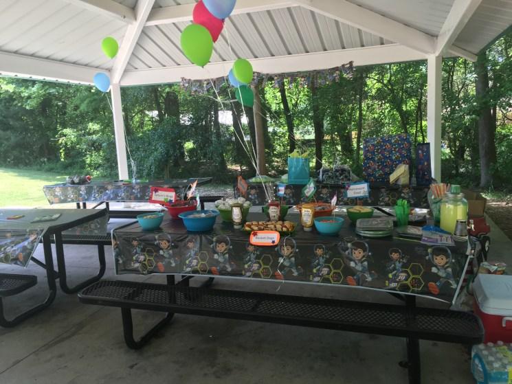rocket themed birthday party