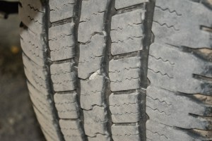 Nail in tire @ Mt. Shasta KOA