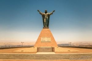Jesus on the top of Morro de Arica