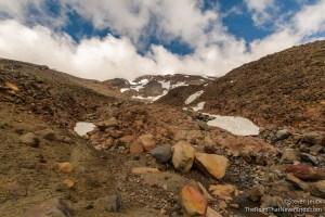 Hike up ridgline to view Ruapehu Volcano
