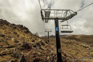 Ski Lift up Ruapehu Volcano