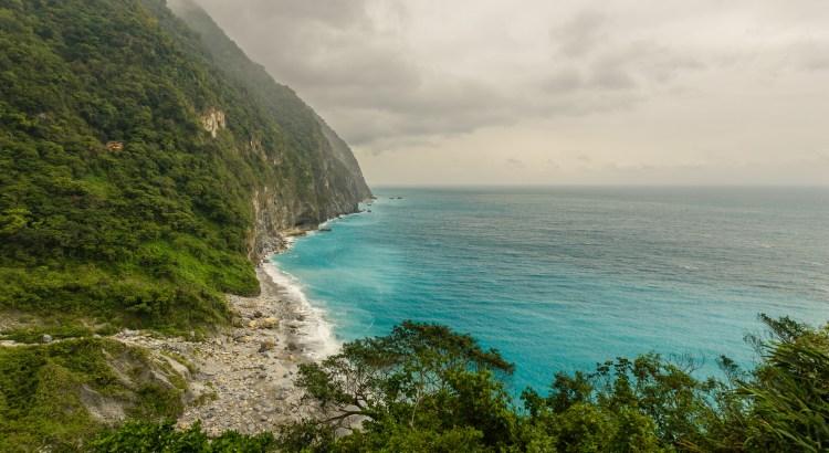 View along the coast