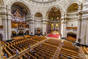 Inside of the Berlin Cathedral, from a balcony