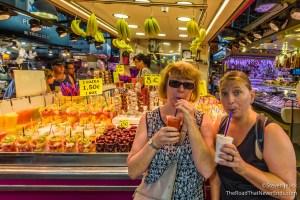 Juice at Mercado de la Boqueria