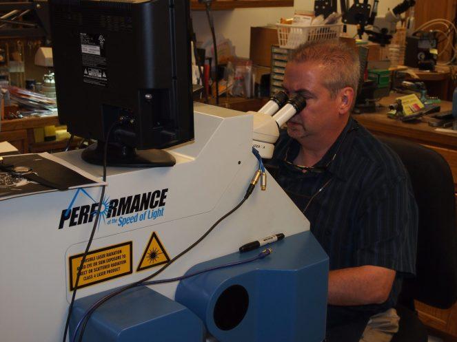 Tim at the laser