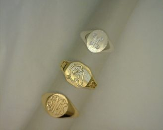3 ENGRAVED RINGS