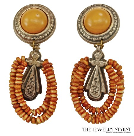 Vintage '80s Boho-style Earrings