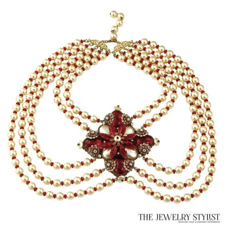 Rare One-of-a-kind Ian St. Gielar Grand Red Baroness Necklace