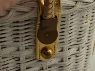 Vintage 1950s MIdas of Miami Beaded Box Purse Handle Condition