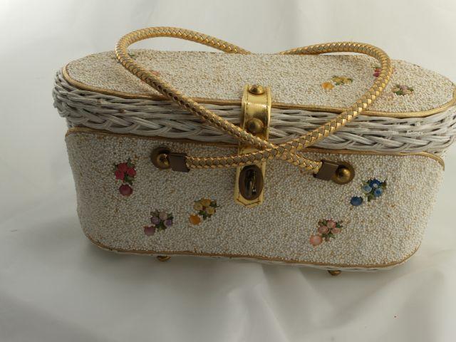 Vintage 1950s MIdas of Miami Beaded Box Purse