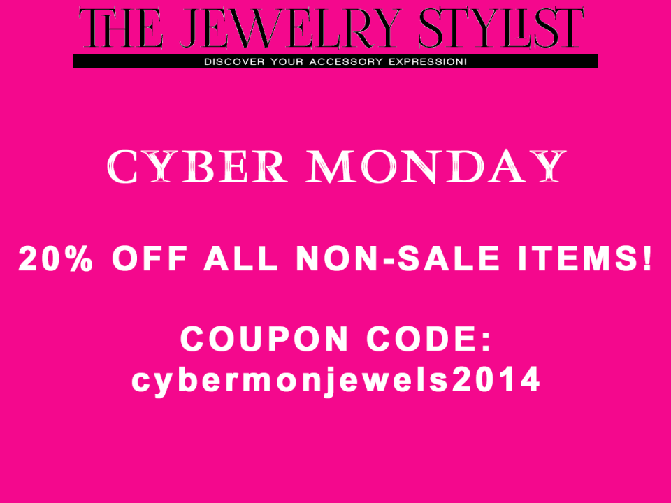 The Jewelry Stylist Cyber Monday Sale 20% Off Coupon Code