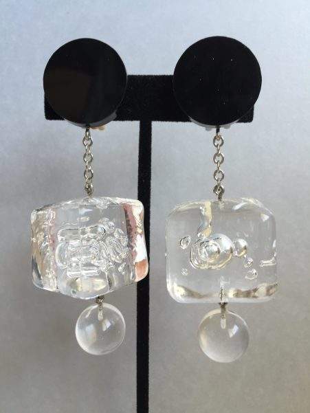 Judith Hendler Ice Cube Drop Earrings