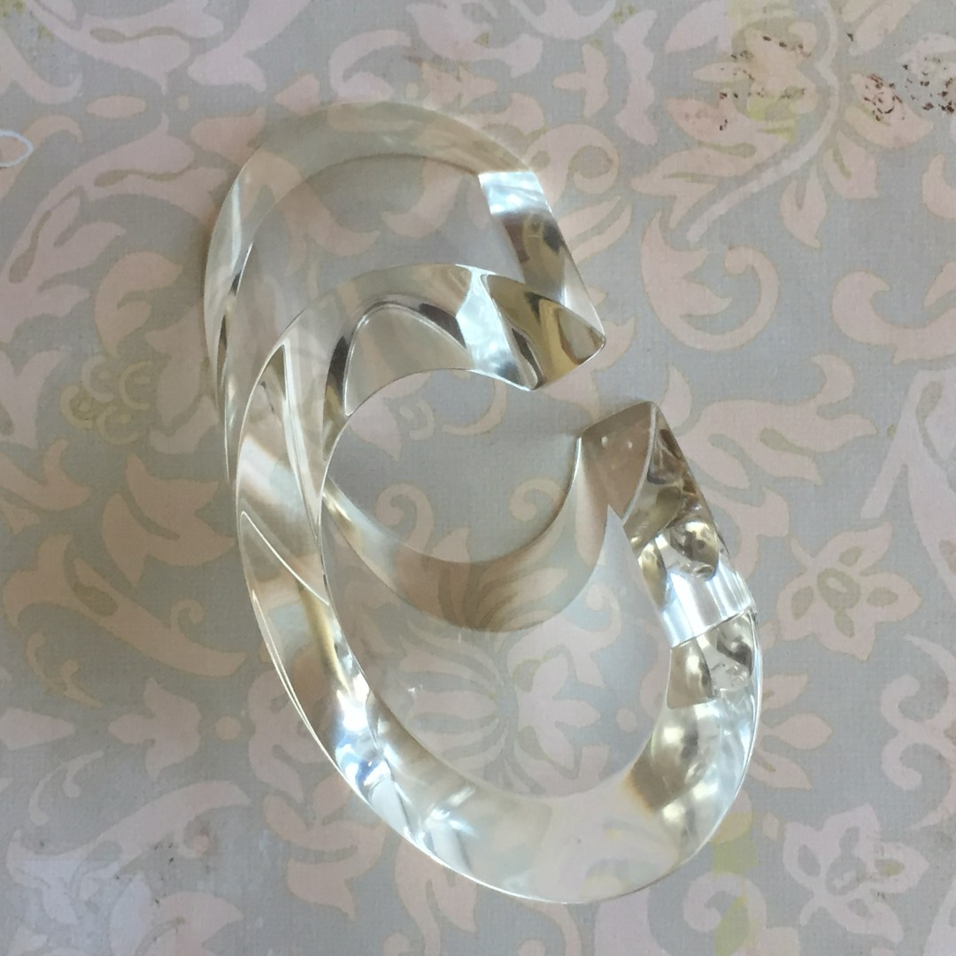 Limited Edition Judith Hendler Clear Slice Acrylic Cuff