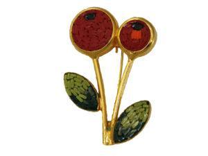 Italian Mosaic Cherry Blossom Pin